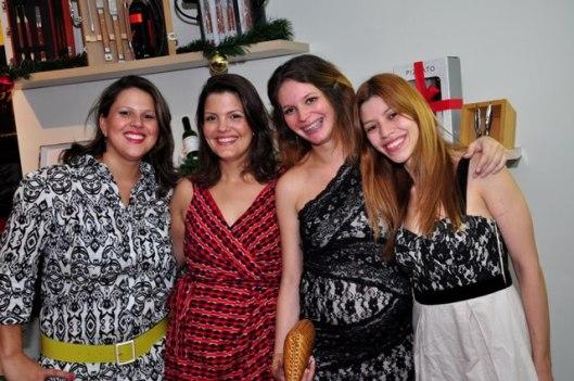 Melinda, Grazielle, Bruna e Karen.