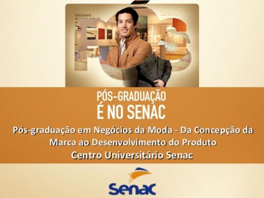 pós graduação negócios da moda SENAC